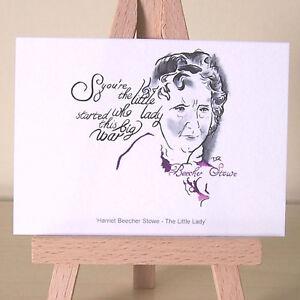 Harriet-Beecher-Stowe-ACEO-Art-Deco-Portrait-Famous-Abolitionists-Women-Authors