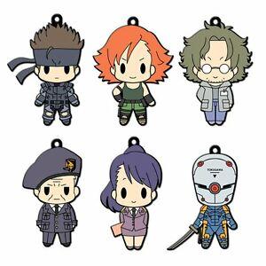 Metal-Gear-Solid-Rubber-Keychain-Collection-Vol-1-BOX-6-FIGURE-TOY-KONAMI-KOJIMA