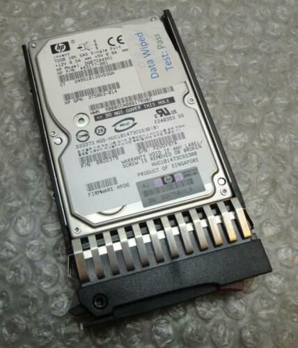 "72GB HP 443177-001 375863-014 HUC101473CSS300 2.5/"" SAS 10K Hard Drive /& Caddy1"