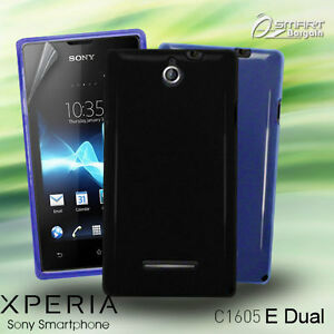 check out ed8f3 1089c Details about Matte Gel Case For Sony Xperia E C1605 e + Screen Guard TPU  Jelly Soft Cover