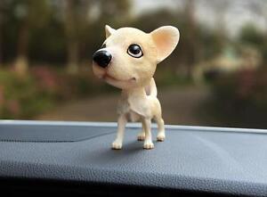 NOVELTY BOBBING HEAD CHIHUAHUA mexican DOG bobble chiwawa dogs car dash board