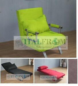 Sofa Bed Single Sofabed Armchair Microfibre Italfrom Design Ebay