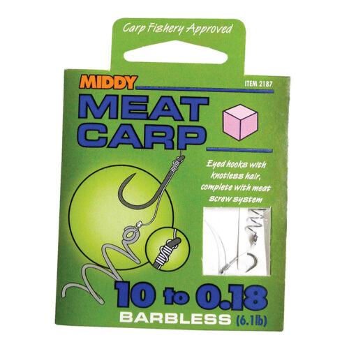 All Types /& Sizes//Coarse Fishing//Las-Soo,Band /'Em,Method Middy Hooks To Nylon