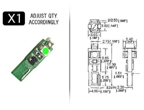Alta Potência Verde Estilo 74 Led substituição Painel De Instrumentos bulbo de calibre