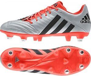 Adidas Homme Incurza Elite XTRX Rugby Boot M29398 Argent/Noir/Rouge * Diverses Tailles