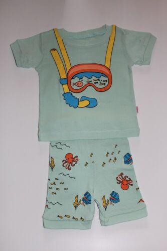 Plongée Cartoon Pattern Garçons Manches Courtes Short Pyjama Set Cozy