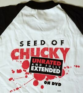 51076cb5 CHUCKY T-SHIRT M HORROR FILM CHILDS PLAY MOVIE SEED OF vhs dvd ...