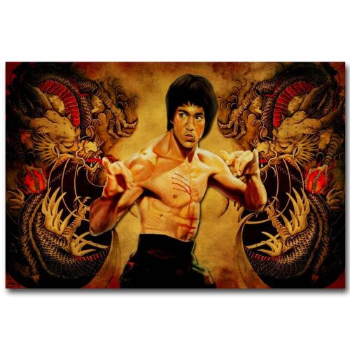 Bruce Lee Master Legend Silk Poster 12x18 24x36 inch Kung Fu Star 006