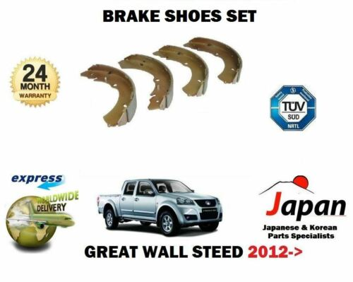 FOR GREAT WALL STEED 5 2.0DT 143BHP GW4D20 4X4 2012--/>NEW REAR BRAKE SHOES SET