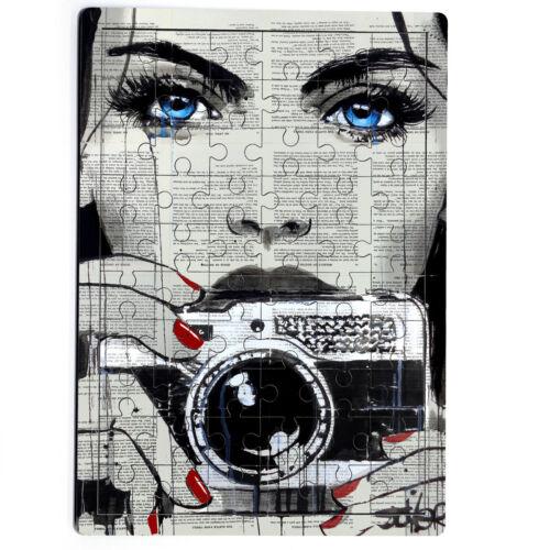 REGNO Unito GIORNALE Creative faccia vecchia foto fotocamera UNGHIE MDF Jigsaw Puzzle 60 PEZZI