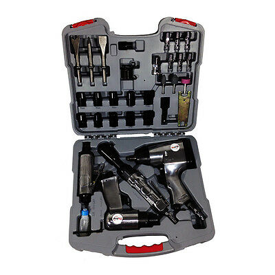 New 35 Piece Proamp Air Tool And Accessory Kit - Impact Wrench Ratchet RD-F2635Z