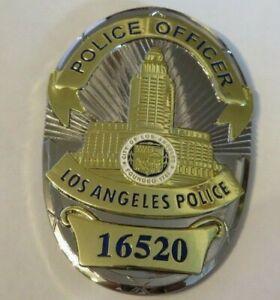 Movie Badge  L A P D   Police  OFFICER  #16520 Polizei Abzeichen Marke USA