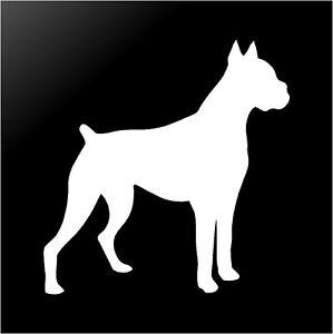 boxer dog silhouette