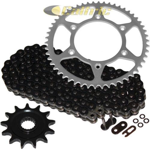 Black O-Ring Drive Chain /& Sprockets Kit for Honda CR125R 1987-2003