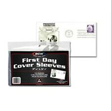 1 Pack of 100 BCW First Day Cover Sleeves Storage Protection