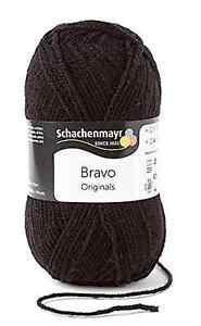 Schachenmayr Bravo - Gomitolo di Lana e poliacrilico disponibile in diversi colori 08226 Schwarz