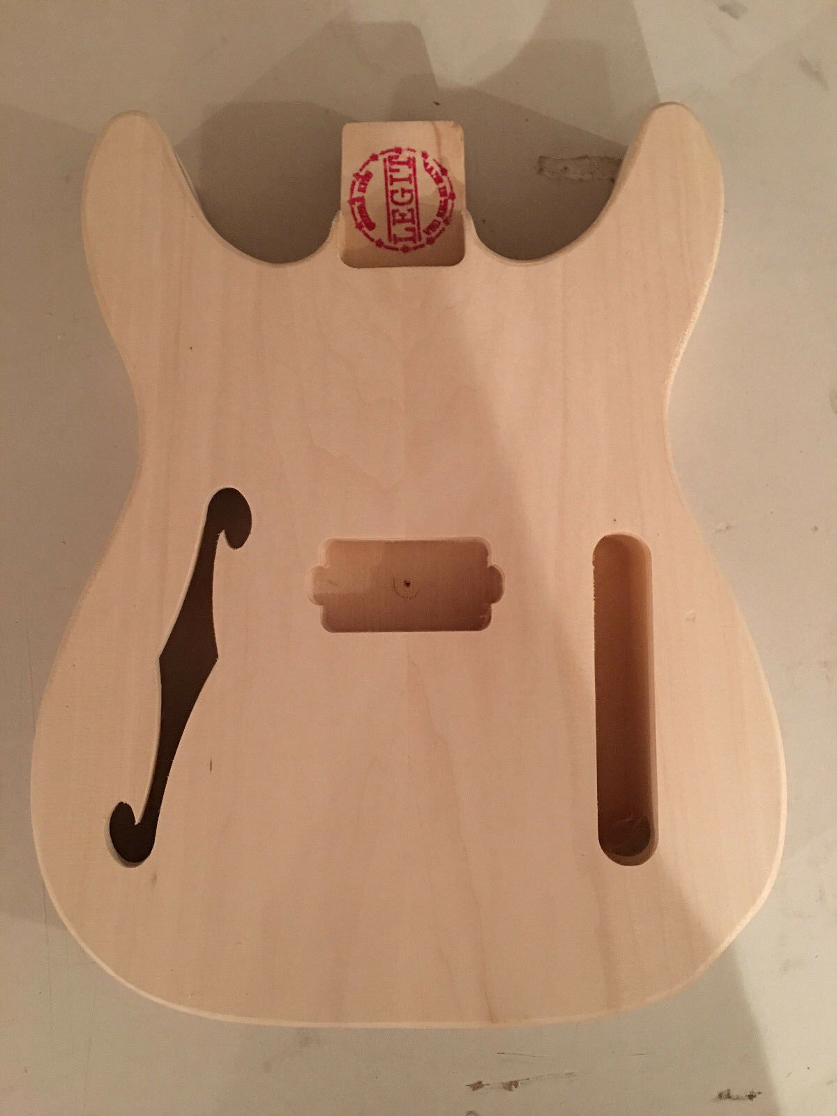 TELE DOUBLE CUT THINLINE STYLE BODY EUROPEAN LINDIN WOOD LIGHT WEIGHT  USA MADE