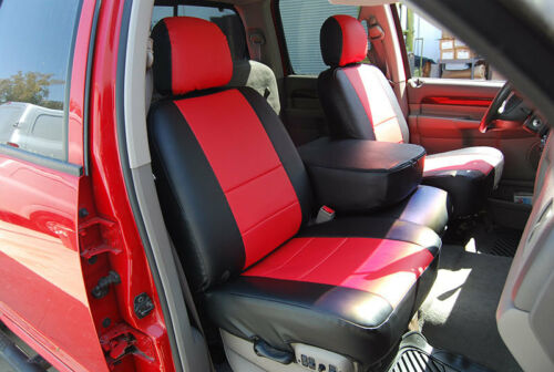 DODGE RAM 1500 2500 3500 2003-2018 IGGEE S.LEATHER CUSTOM FIT SEAT COVER 13COLOR
