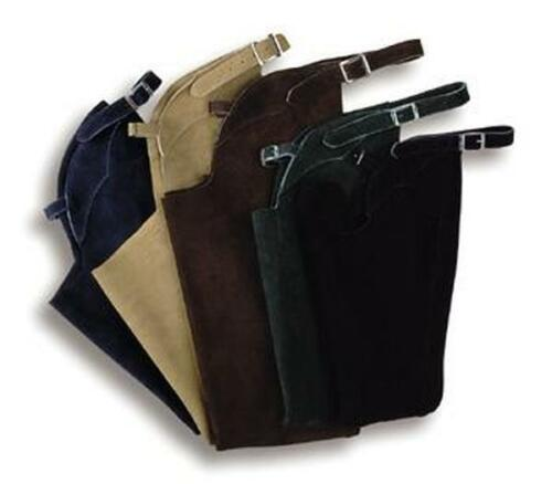 DEVON AIRE WESTERN OR ENGLISH HORSE SADDLE SUEDE SCHOOLING CHAPS ADULT SIZES