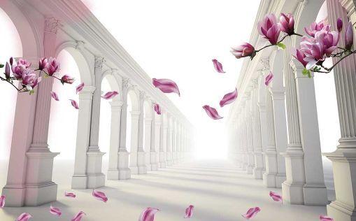 3D Langer Flur, Blumen 178 178 178 Fototapeten Wandbild Fototapete BildTapete Familie a819bb