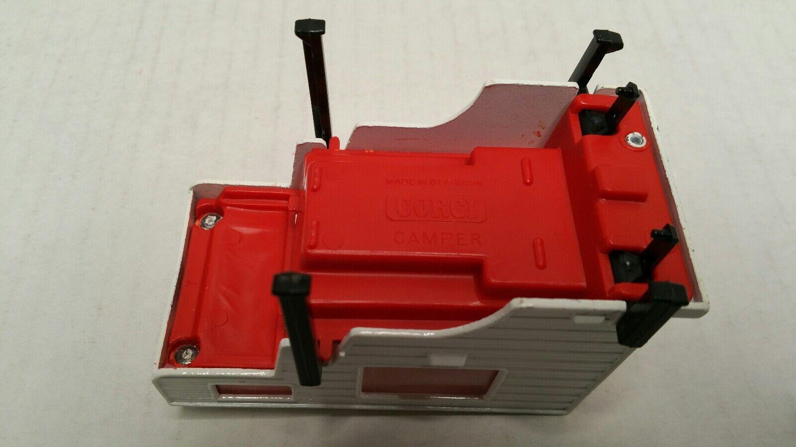 Vintage Corgi Corgi Corgi Mazda B1600 Pickup Camper Lote 1 36 rojo duro encontrar 5c430e