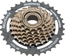 Shimano MegaRange 7 Speed Mf-tz31 14-34t MTB Freewheel W/ KMC Z51 Chain