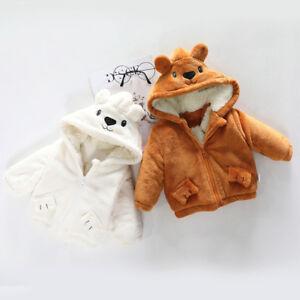 10a751d785d4 New Baby Toddler Boy Girl Winter Cartoon Hooded Coat Cloak Jacket ...