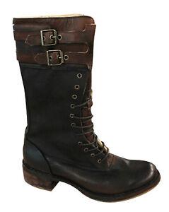 marrón Lona de Hebilla con Cuero 67626 becerro T2i cordones mujer Timberland Botas para IwF1wH