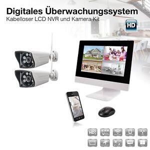 HD Radio Wlan Monitoraggio Videosorveglianza Nvr Ip Wifi Telecamera Set Con