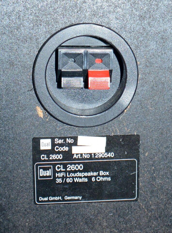 Højttaler, Dual, CL 2600