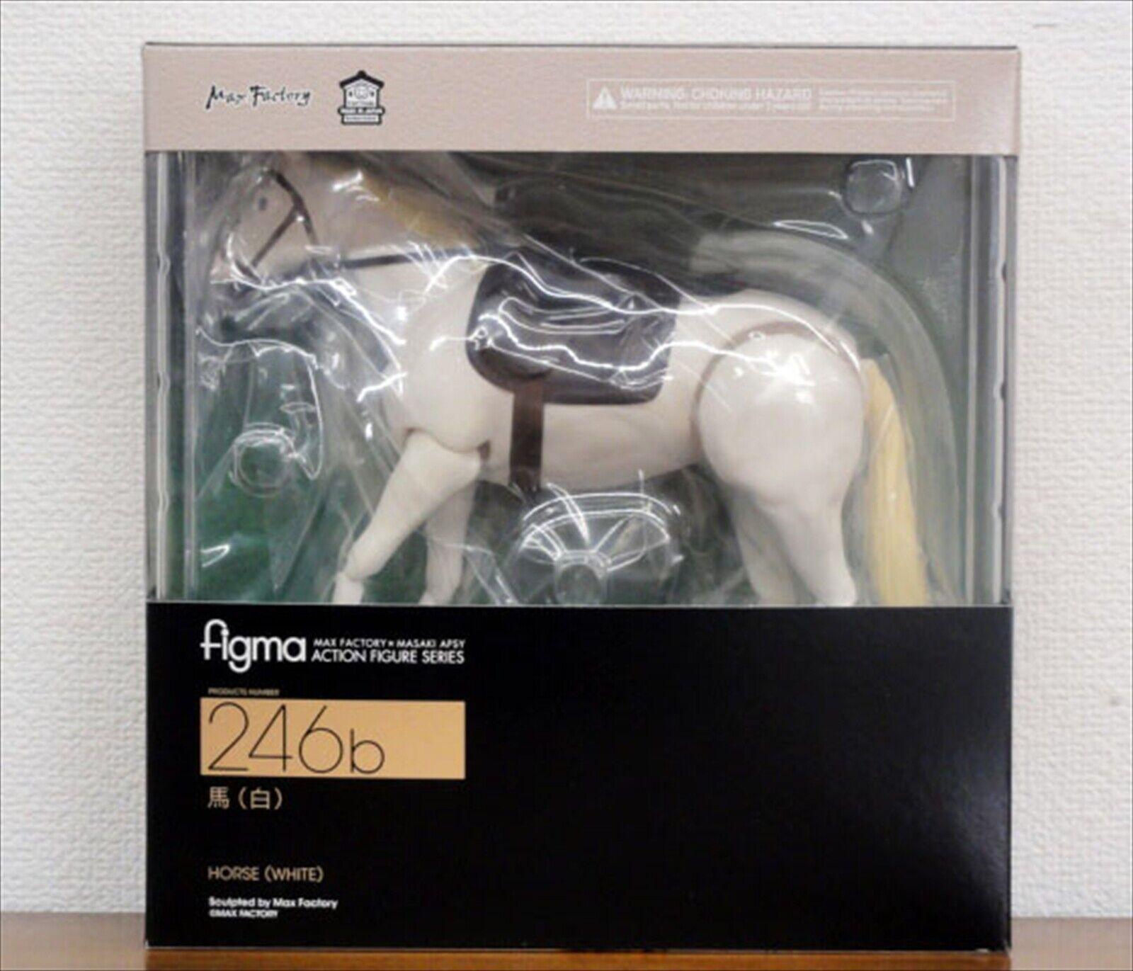 Max Factory Figma Caballo blancoo ABS Estatua PVC Figura de Acción Importado De Japón Nuevo