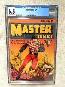 Master-Comics-16-cgc-6-5-July-1941-off-wt-white-Pgs-amp-Free-full-color-photocopy