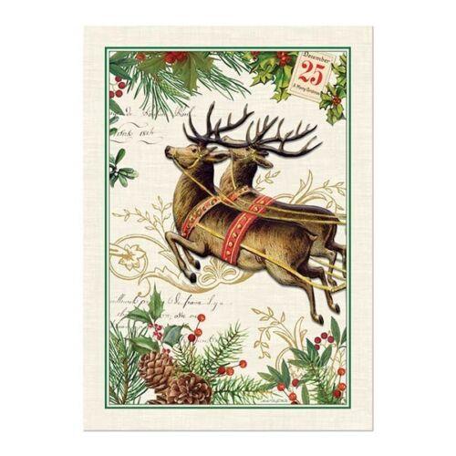 Michel Design Works Tow274 Christmas Joy Cotton Kitchen Dish Towel  Multicolor