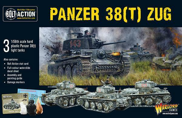 Warlord Games Bolt Action BNIB Panzer 38(T) Zug WGB-WM-402012032