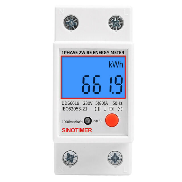 Din Rail Single Phase LCD Digital Power Consumption Energy Electric Meter