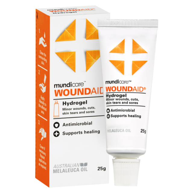 Mundicare Woundaid Gel 25g Supports Healing Minor Wounds Abrasions and Sores