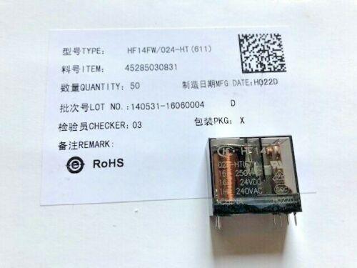 6 Stück HF14FW//024-HT Hongfa Relay Relais 250VAC 24VDC 611