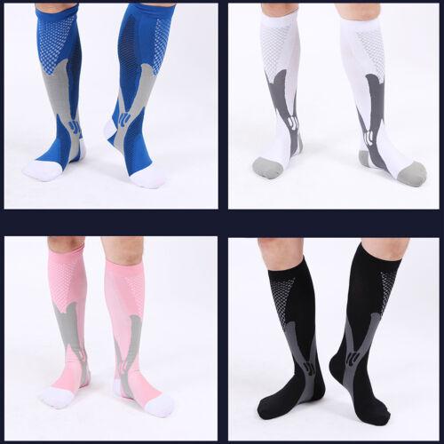 Women Men Compression Socks 30-40 mmhg Sports Knee High Socks Running Fitness US