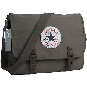 Das Bild wird geladen CONVERSE-Umhaengetasche-Schultertasche -Uberschlagtasche-Tasche-VINTAGE-PATCH-Grau 3747a74b6602d