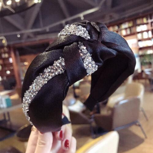 Schleife Knoten Stirnband Haarband Reifen Boho Mütze Breit Perlen Gedreht Haar