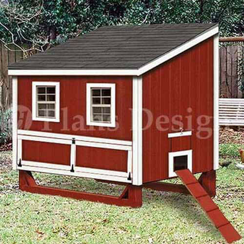 To Hen Chicken Poultry Coop Plans 90406L 4/'x6/' Lean