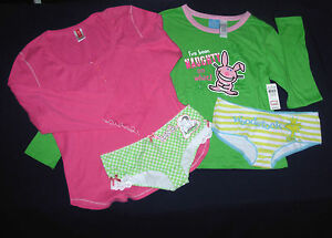 lot 4 sz M Josie Panties Sleep Tee Shirt It's Happy Bunny Naughty Woodstock Med