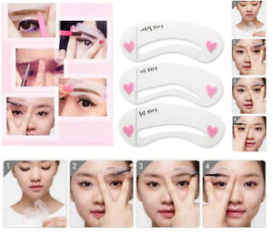 12 X Eyebrow Liner Grooming Drawing Guide Template Stencil Brow