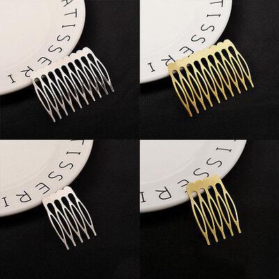 Warnen 10 Stück Frau Gold / Silber Haare Kämmen Haarspange Braut Krone Haarnadel Moderater Preis