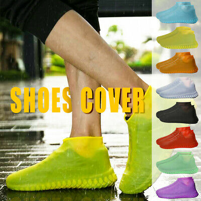 Unisex Rain Shoes Anti-Slip Reusable Waterproof Protector Silicone shoe cover US