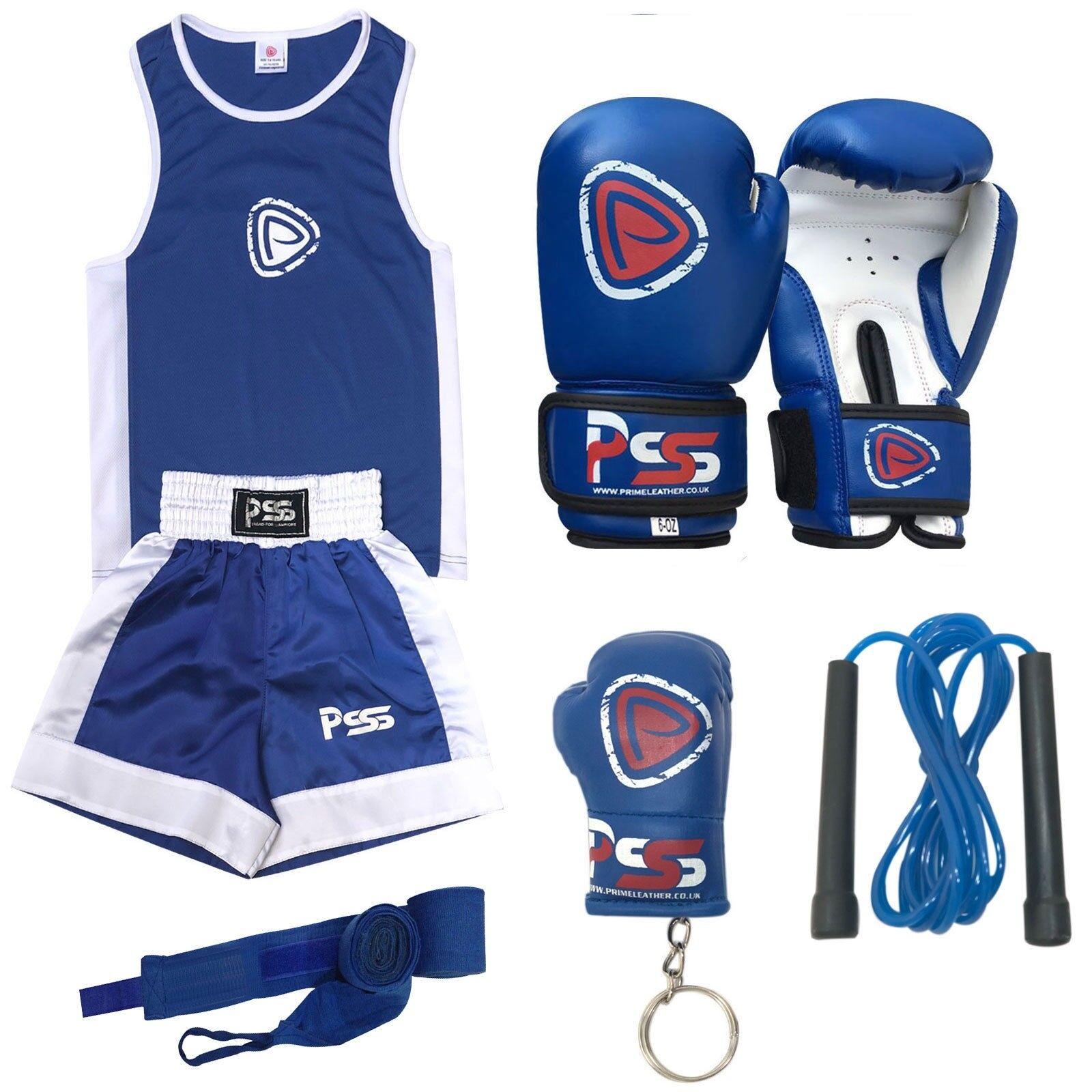 Kinder Hochwertig Boxen Uniform Set Top+Boxhandschuhe (1007) 3-14 Jahre Jahre Jahre b73ee8