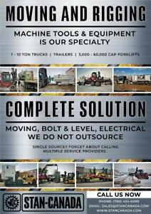 Local Machine Equipment Moving and Rigging (1 Hour Min. Charge Only) - Complete Solution Edmonton Area Preview