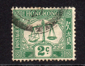 Hong Kong 1924 2 Cent Postage Due Used Stamp (625)