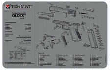 Glock Armorers Gun Cleaning Bench Mat Exploded View Schematic Grey GEN 4