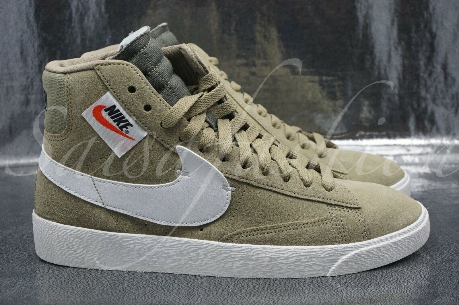 W Nike Blazer Mid Rebel Women's shoes Neutral Olive White BQ4022-201 Sz 8.5